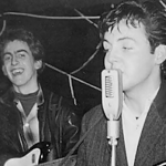 George Harrison and Paul McCartney at the Casbah Coffee Club