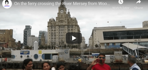 On the ferry crossing the river Mersey from Woodside to Liverpool